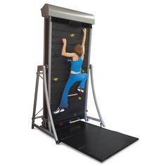 These things are actually pretty awesome. I love using it at the climbing gym. The Climbing Wall Treadmill - Hammacher Schlemmer