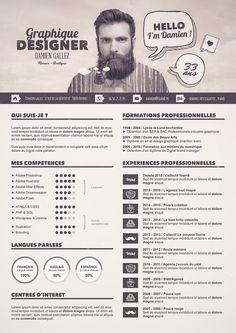 Tutoriel special #graphiste - Créer un #CV graphique avec #Photoshop pour réussir vos entretiens d'embauches !