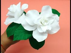 How to make Crepe Paper Flowers Gardenia (flower # 254) - YouTube