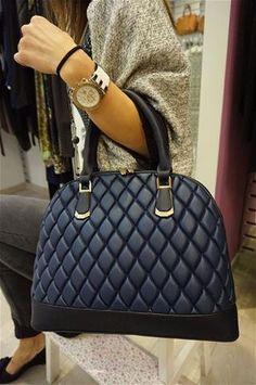 La Bella Donna - Γυναικειες Τσαντες Tote Μπλε Monogram, Michael Kors, Shoulder Bag, Pattern, Shoes, Fashion, Bag, Moda, Shoe