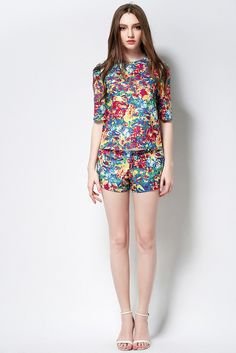 Summer Clothing Set--Top+Shorts B594 – TO Design