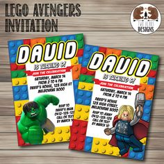 Sale Lego Marvel Avengers Invitation For Birthday Jpg 236x236 Superhero Party