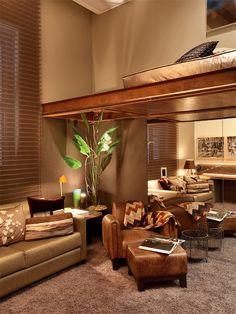 Tons terra + madeira + couro! Casa Cor Rio de Janeiro 2012
