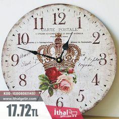 35cm Zakka Serisi Ahşap Üretim Dekoratif Duvar Saatleri - IGD080611497 - 17.72TL -ithalgetir.com