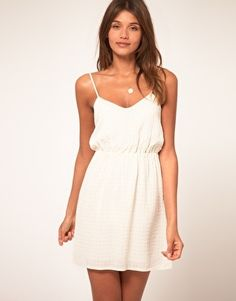 ASOS Strappy Dress With Ruched Waist - StyleSays