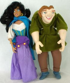 Burger King Disney Hunchback Of Notre Dame Esmeralda And Quasimodo Hand Puppets #Disney