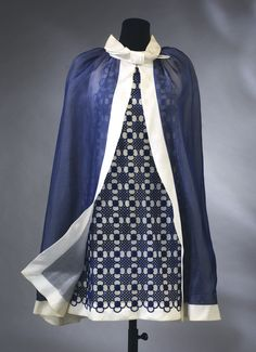 Evening mini-dress and cape  Pierre Cardin 1967-1968