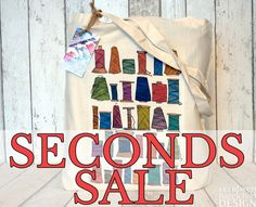 SECONDS SALE Sewing Thread Tote Bag by ceridwenDESIGN http://ift.tt/2i0frce