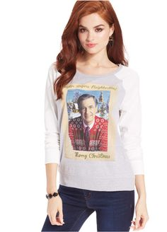 16e85ee0901 Awake Juniors  Raglan-Sleeve Christmas Sweatshirt - Juniors Tops - Macy s