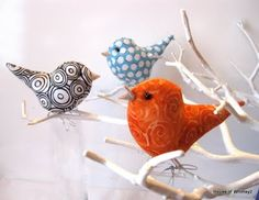 birds from fabric