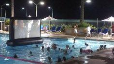 Superior Screen Swimming Pool  Backyard Movie Screen