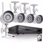 Funlux 1080p 4CH NVR 1.0 Megapixel WiFi Outdoor Home Security Camera System 500G