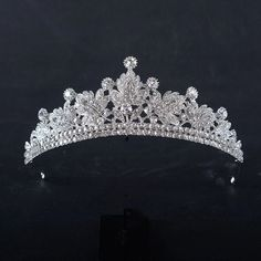 Silver Color Luxury Princess Crystal Rhinestone Tiara Pageant Wedding Bridal Crowns And Tiaras 2017 Bride Pearl Hair Accessories by Comebackshop on Etsy Wedding Hair Up, Wedding Tiaras, Wedding Gifts, Wedding Veils, Bride Tiara, Headpiece Wedding, Bridal Headpieces, Bridesmaid Accessories, Wedding Hair Accessories