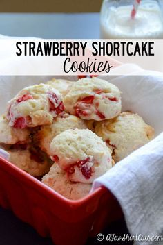 Love strawberry shortcake? This Strawberry Shortcake Cookies Recipe is the perfect marriage of fresh strawberries, white chocolate, and a buttery cookie. You don't want to miss these!
