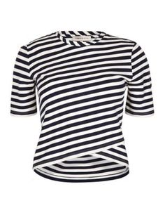 Short Sleeve Crossover Striped Top | M&S