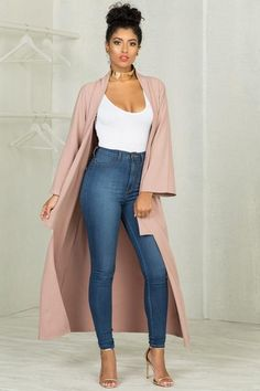 LOVE a long Duster or cardigan Fall Fashion Outfits, Hot Outfits, Cute Casual Outfits, Night Outfits, Spring Outfits, Autumn Fashion, Vegas Outfits, Woman Outfits, Party Outfits