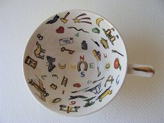 this cup is reserved for sue  ceramic fortune telling by silocurb