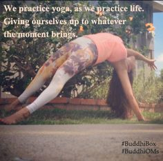 practice yoga, practice life www.buddhiboxes.com #BuddhiBox #yogaliving #mindful #subscriptionbox
