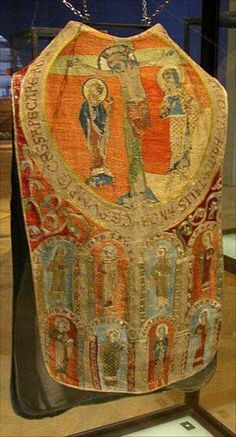 Chasuble from 13th century is shown in Museum fur Angewandte Kunst, Vienna, Taken from Historical needlework resources, http://medieval.webcon.net.au