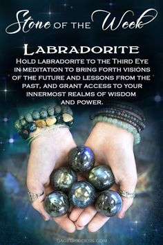Stone Of The Week - Labradorite Crystal Healing Stones, Crystal Magic, Stones And Crystals, Gem Stones, Minerals And Gemstones, Crystals Minerals, Rocks And Minerals, Reiki, Chakra Crystals