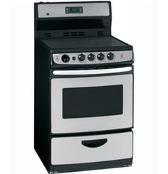 """JCAS745MSS by General Electric Canada in Winnipeg, MB - GE 24"""" Free Standing Electric Standard Clean Range Shop JS Furniture Gallery for all your appliance needs.  1725 Ellice Avnue, Winnipeg, http://furnitureandmore.ca"""