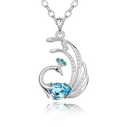Phoenix Pendant Necklace Set White 18K Gold by Jewellery4Her, $22.80