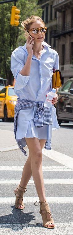 Olivia Palermo: Sunglasses – Westward Leaning  Shoes – Aquazzura  Purse – Paula Cademartori