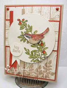 Vicki Burdick: It's a Stamp Thing - Sweet Sunday...H ey There - 8/10/14 (SU stamps: Open Heart, Hardwood, Hey Bud (sentiment)