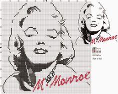 Hobby lavori femminili - ricamo - uncinetto - maglia Celebrities Marilyn Monroe