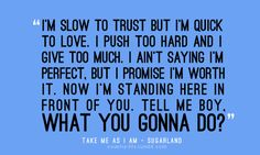 sugarland lyrics