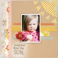 Great stiching on scrapbook layouts guide from Authentique
