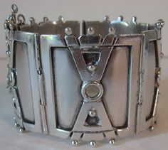 Vintage Sterling Silver Bracelet Signed VICTORIA TAXCO STERLING MADE IN MEXICO