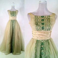 Hey, I found this really awesome Etsy listing at https://www.etsy.com/listing/163872271/vintage-1950s-light-green-chiffon