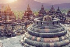 Borobudur Temple - Ancient Ruin i Asien