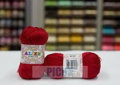 Fir de tricotat sau crosetat - Fir microfibra ALIZE FOREVER SIMLI ROSU 106 Textiles, Forever, Crochet, Tricot, Ganchillo, Fabrics, Crocheting, Knits, Chrochet