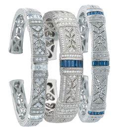 diamond and sapphire cuffs...