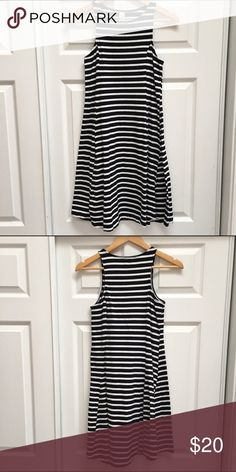 Striped Fit & Flare Dress Stretch knit striped casual dress. Old Navy Dresses