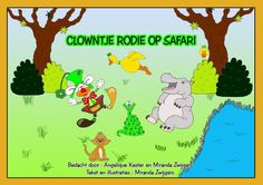 Book that stimulates the senses : Auditory part where clown Rodie goes on a safari.