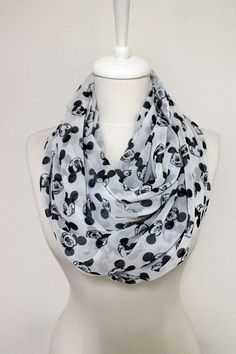 Walt Disney Mickey Mouse pattern Chiffon Infinity by Aslidesign