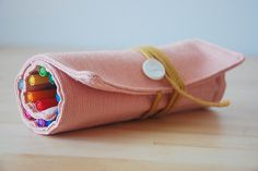 DIY Pen & Pencil Roll-up (also great pattern for crochet hook case!)