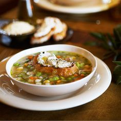 Get the recipe: Minestrone with Herbed Ricotta Crostini by MCC Chef Todd English
