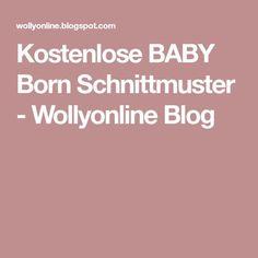 Kostenlose BABY Born Schnittmuster - Wollyonline Blog