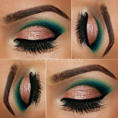 Eye makeup by bushra nazer Beautiful Eye Makeup, Beautiful Eyes, Eye Makeup Steps, Makeup Step By Step, Step By Step Instructions, Lipstick, Make Up, Beauty, Maquillaje