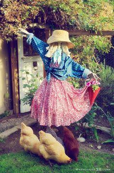 DIY Scarecrow Hawk Deterrent from