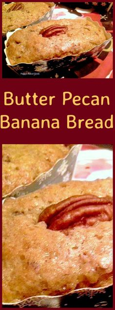 Butter Pecan Banana Bread - These are mini loaves,made for gifts, and will also work using regular loaf pans... mini ones are so cute!