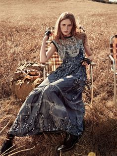 Vogue US March 2016 Model: Carolyn Murphy, Grace Hartzel, Gary Clark Jr., Rianne van Rompaey Photographer: Craig McDean Fashion Editor: Grace Coddington