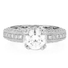Beveled Edge Pave Engagement Ring Diamond Engagement Rings, Jewelry Design, Collection, Diamond Engagement Ring