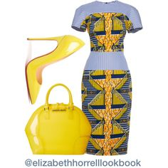 LIZ by elizabethhorrell on Polyvore featuring polyvore fashion style Stella Jean Christian Louboutin Armani Jeans