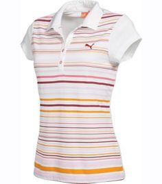 Ladies Puma Multi Stripe Golf Polo Shirt