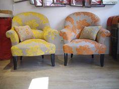 Le tissu des fauteuils crapauds